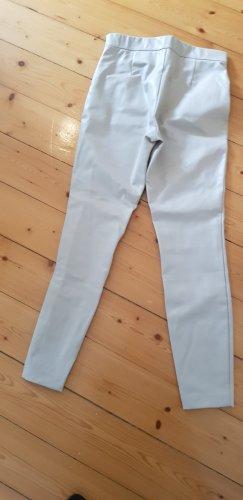 Zara Basic Pantalon en cuir beige clair