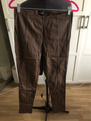 Gina Tricot Faux Leather Trousers brown