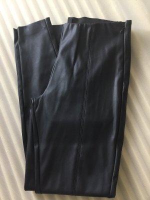 Q/S Pantalon en simili noir