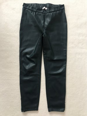 Kunstlederhose, dunkelgrün-petrol