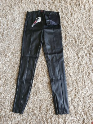 JustFab Leather Trousers black