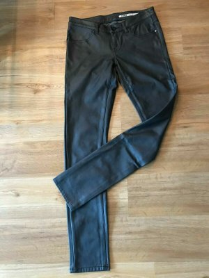Garcia Faux Leather Trousers anthracite polyurethane