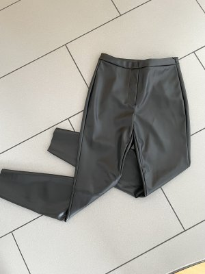 Pieces Pantalón de efecto piel negro