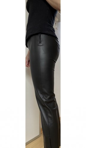 Patrizia Pepe Leather Trousers black