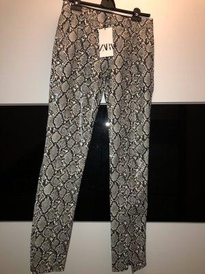 Kunstlederhose Schlangenprint Gr.XS Zara