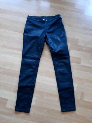 Kunstlederhose schwarz H&M Gr. 38
