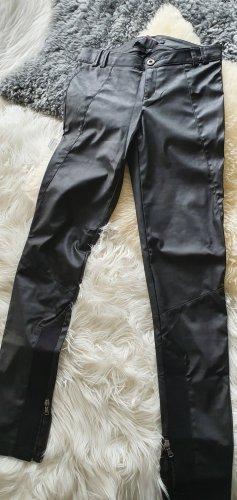 Trf by Zara Skórzane spodnie czarny