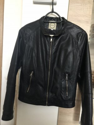 Redial Faux Leather Jacket black