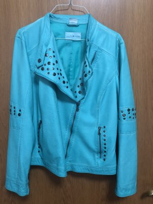 Laura Kent Faux Leather Jacket turquoise
