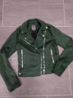 Primark Faux Leather Jacket forest green