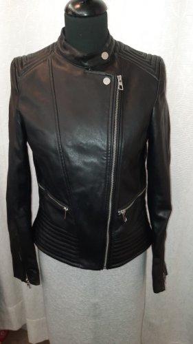 H&M Chaqueta de cuero de imitación negro