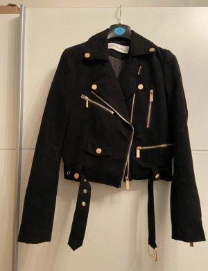 Ivyrevel Veste en cuir synthétique noir-doré