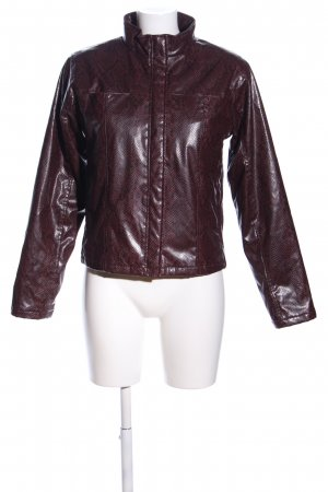 Faux Leather Jacket brown animal pattern extravagant style
