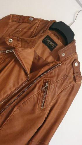 C&A OUTERWEAR Giacca in ecopelle marrone-cognac