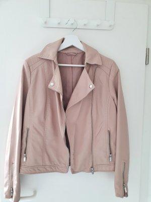 Faux Leather Jacket dusky pink