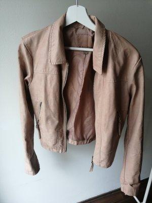 Amisu Faux Leather Jacket multicolored