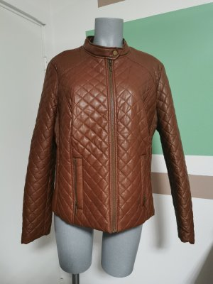Veste en cuir synthétique brun