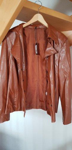 Gstar Veste en cuir synthétique brun