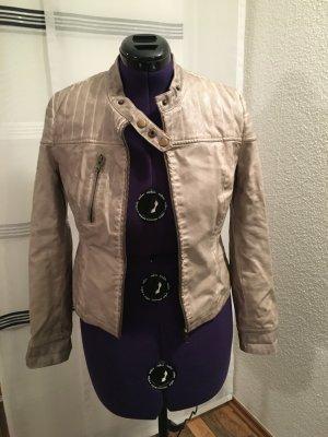 Fransa Faux Leather Jacket multicolored polyurethane