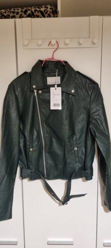 Mint&berry Faux Leather Jacket green-dark green