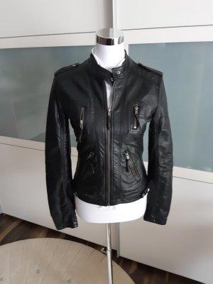 Clockhouse Veste motard noir faux cuir