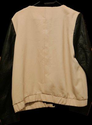 H&M Chaqueta de cuero negro-color rosa dorado