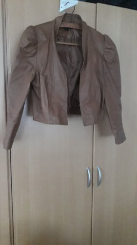 Attentif Faux Leather Jacket light brown viscose