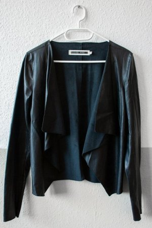 Noisy May Blazer en cuir noir
