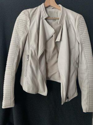 Amisu Faux Leather Jacket oatmeal