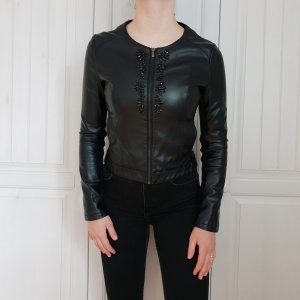 Motivi Veste en cuir synthétique noir