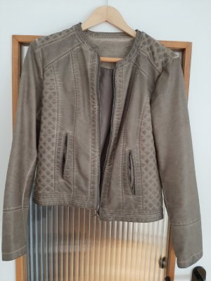 Fritzi aus preußen Faux Leather Jacket grey brown