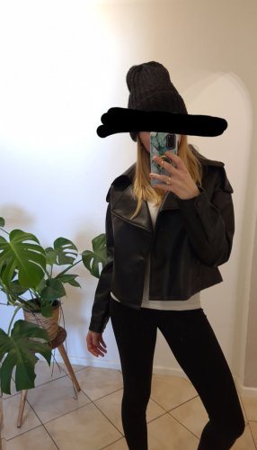 Missguided Giacca in ecopelle nero