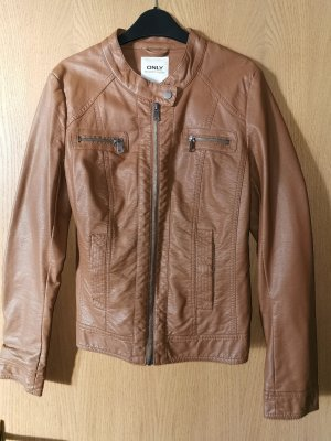 Only Fashion Faux Leather Jacket brown