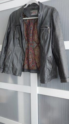 DESIGNER'S Veste en cuir synthétique gris foncé