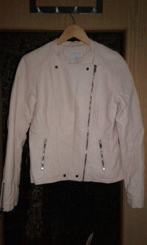 Clockhouse Faux Leather Jacket light pink-salmon