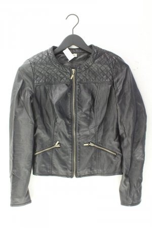Faux Leather Jacket black polyester