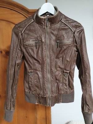 unknown Faux Leather Jacket brown