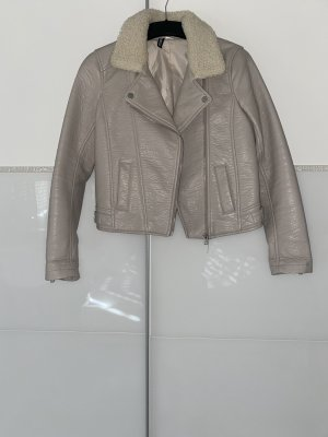 H&M Faux Leather Jacket light grey