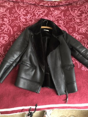 Gina Tricot Faux Leather Jacket black