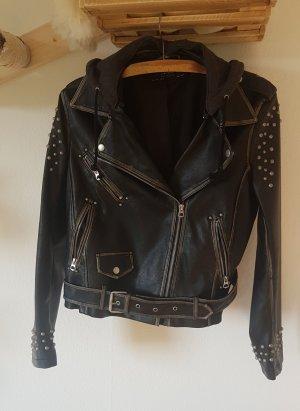 Zara Veste en cuir synthétique noir