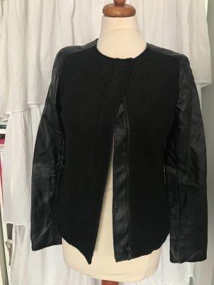 Ann Christine Veste en cuir synthétique noir