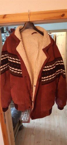 Veste oversize rouge mûre tissu mixte
