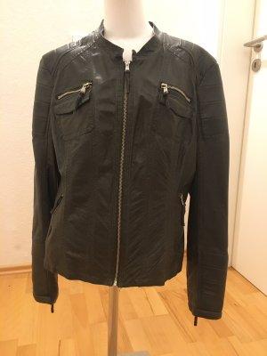 Rino & Pelle Faux Leather Jacket dark green
