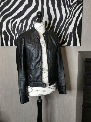 Vero Moda Kurtka z imitacji skóry czarny Tkanina z mieszanych włókien