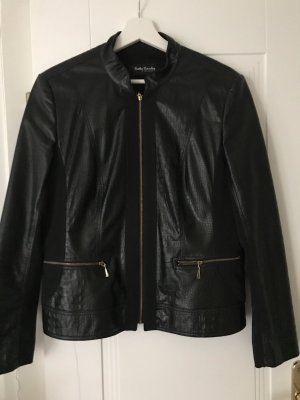 Betty Barclay Faux Leather Jacket black