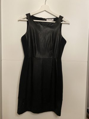 Vero Moda Robe en cuir noir
