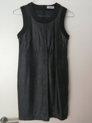 Edited Leather Dress black