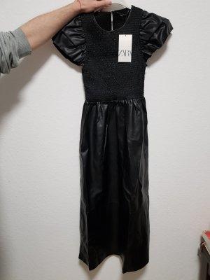 kunstlederkleid Zara XS