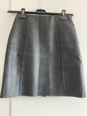 Pieces Jupe en cuir synthétique noir