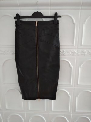 Amisu Faux Leather Skirt black